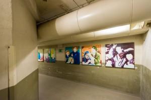 Sonderausstellung der Künstler Thomas Baumgärtel und Harald Klemm in der Dokumentationsstätte Regierungsbunker/ Foto: Dominik Ketz